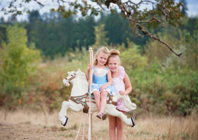 children, puyallup, photographer, carosal horse, dollcakes dresses, fairy tale shoot-2