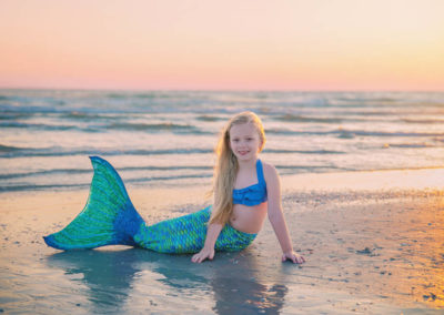 children, puyallup, photographer, carosal horse, dollcakes dresses, fairy tale shoot, florida, mermaid, mermaid tail, beach, sunset-1
