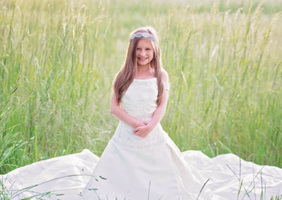 puyallup child photographer wedding dress mom tacoma little girl 4