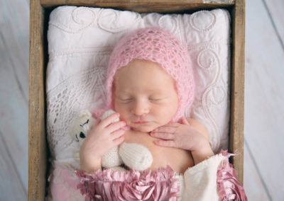 newborn girl, puyallup, photography, bucket shots, purple, pink, sibling shots, floral, macro, parent shots (7 of 14)