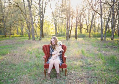senior girl, puyallup, photographer, tacoma, spring, dog, field, flowers, sunset, golden hour-4