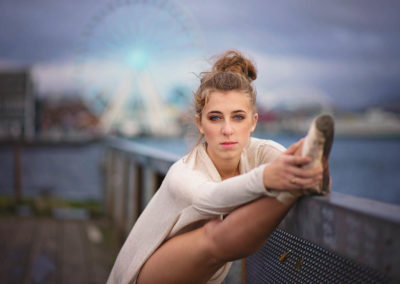 senior, puyallup, photographer, seattle, girl, ballet, dancer, pier, the big wheel, pancake tutu-34