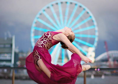 senior, puyallup, photographer, seattle, girl, ballet, dancer, pier, the big wheel, pancake tutu-42