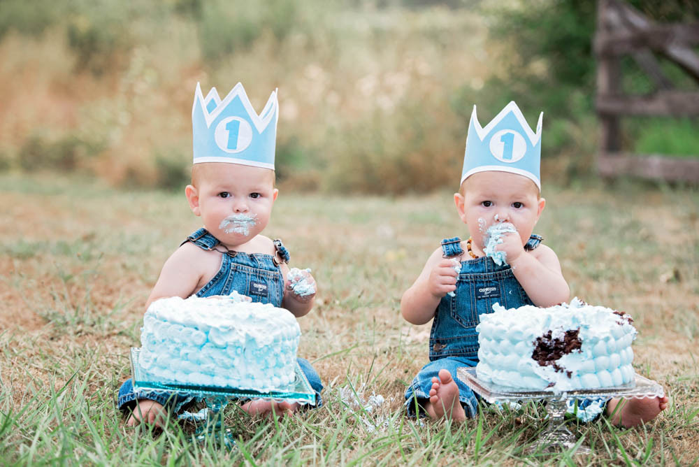 Birthday Cake For Twins Baby