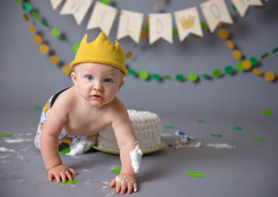 puyallup child photographer wild one boy studio where the wild things are cake smash -30