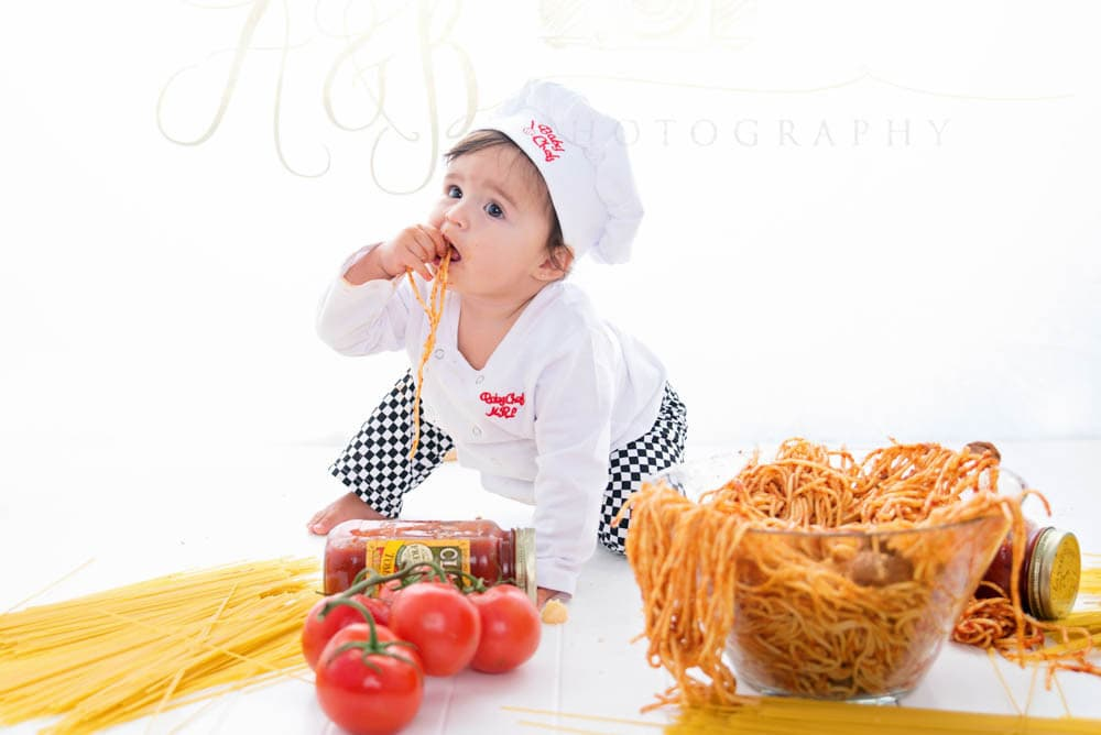 Spaghetti Smash >> Puyallup Children Photographer